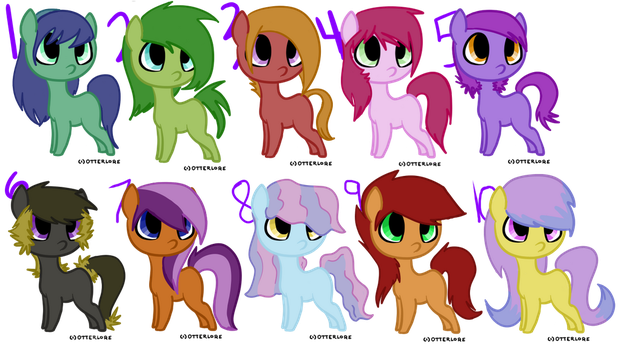 MLP Adopt Sheet -CLOSED- by DappleFeather