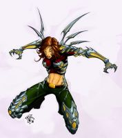 Witchblade Fanart Colours by jimmytheediblewyrm