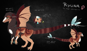Ryuna Ref Sheet by whicray