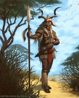 Kudu Beastmaster - Man by FlammablePerson