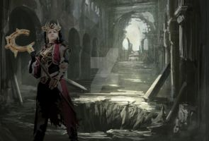 Diablo 3 cathedral Background by HikaruHrist
