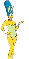 Marge Simpson as a Bunny Girl by darthraner83