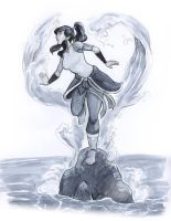 Korra Marker study by chronicdoodler