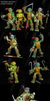 Custom TMNT 2012 figure set by Jin-Saotome