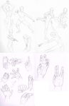 OYIC: Poses and Hands by merrydisposition