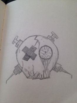 MCR fanart skull  by supertardisin221b