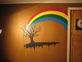 Wall painting by 666cougar