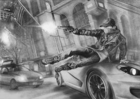 Watch_Dogs drawing by jlim51