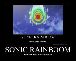 sonic rainboom poster by sky-commander