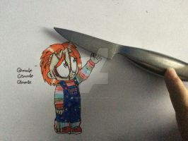 Gimmie that knife by Mika-Raccoon