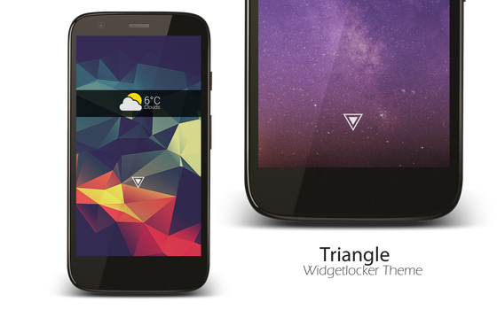 Triangle - Widgetlocker Theme by vikkimnm