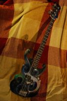Custom Nebula Bass Guitar by ClockworkBones