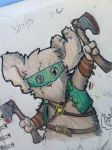Fergus the bandit mouse by SteamMouse