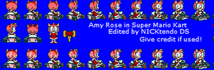 Amy Rose in SMK by CyberMaroon