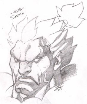 Akuma Sketch by JAG-Comics