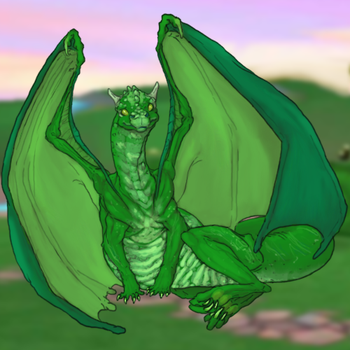 Green Atalath (Spyro Homeworlds 1/6) by Azhdarchid