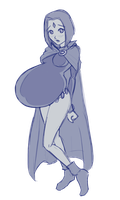 Iron Artist Fail -  Pregnant Raven by RiddleAugust