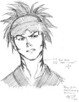 Bleach's Renji Sketch by Hey-Poo-Guy