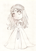 Chibi Cersei - sketch - by Morrigan22