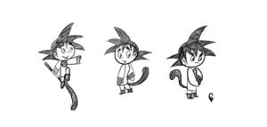 Goku Re-Design Sketches by TheCosbinator