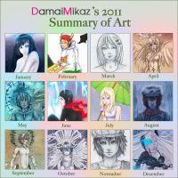 2011 summary of art by DamaiMikaz