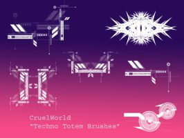 Techno Totem Brush Set by CruelWorld