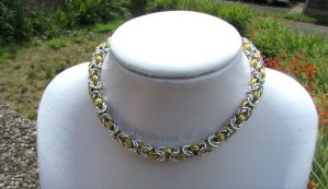 Gold and silver necklace by TerraNovaJewels