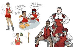 MTMTE Humanformers: Ambulon, First Aid, Ratchet by eabevella