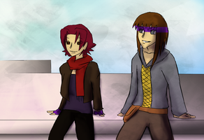 On the Roof -- Hunter and Zin by atomicqueen