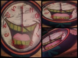 Joker clock by cutiechibi