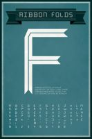 Ribbon Folds typeface poster by shelbybonilla