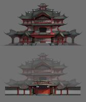 Ancient palace by Freemanner
