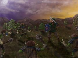 Link Vs Bulblins by thesadpencil