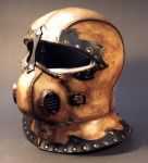 Steampunk Helmet Angled View by TomBanwell