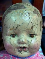 Antique Doll Head 2 by Falln-Stock