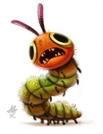 Daily Paint #644. Very Hungry Caterpillar by Cryptid-Creations