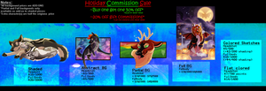 Commissions - Open [Holiday SALE] by Septicsyntax