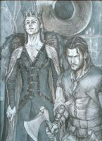 King and huntsmen by melloinheat