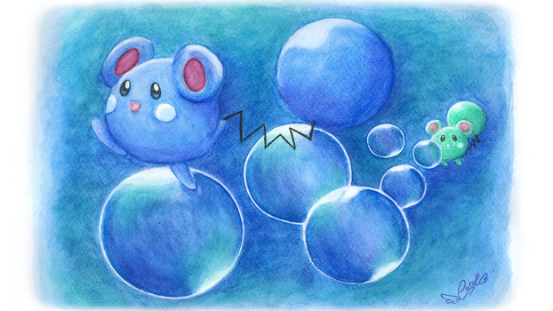 Azurill Pokemon OR/AS Tribute by carol-lie