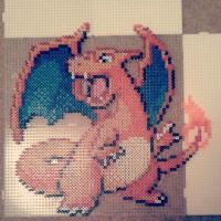 Charizard in Hama beads by fromlusttodust