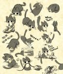 stupid shit my cat does: sketch dump by michellescribbles