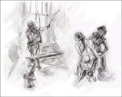Before flogging - sketch by kindinov