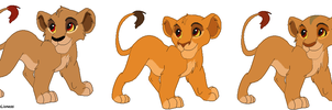 Mufasa x Zira cubs - contest entry ADOPTED by M-WingedLioness