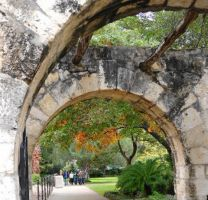 Grounds and Arches at the Alamo by SharPhotography