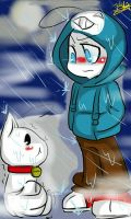 Cryaotic and Lil kitty sup guy by oOoJulyRoseoOo