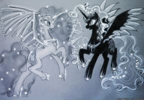(Request) Fightmare Frost and Tsunami by HelenasHerzblut