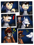 Night of Wolf Girls page 2 (collab) by Tomek1000