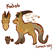 Kodob Reference Sheet by Kama-ItaeteXIII