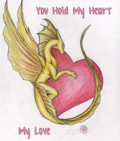 Dragon+Heart Vday Card by PoldalleLovesnare