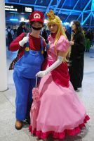 Mario and Peach by TwilightImp